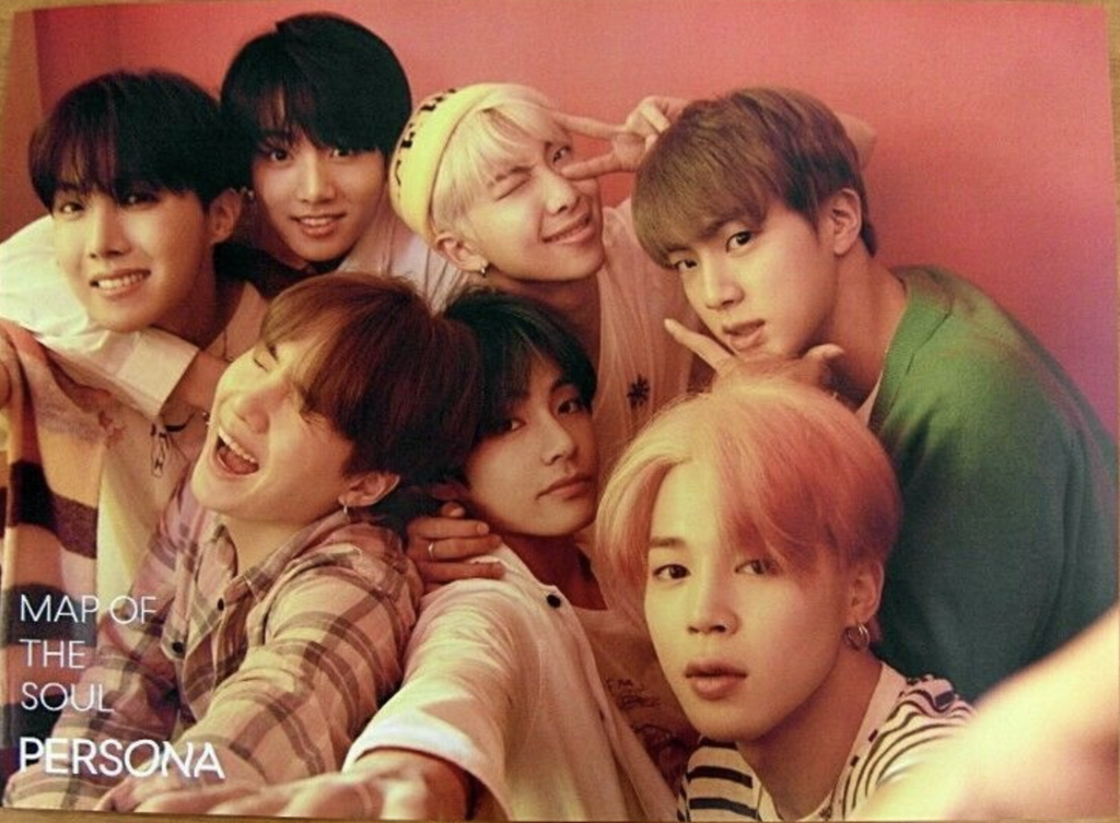 BTS Map of the Soul Persona Official Poster - Photo Concept 1+2+3+4  (4 Set Poster Package)