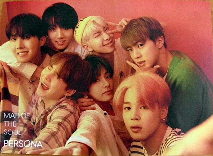 BTS MAP OF THE SOUL PERSONA OFFICIAL POSTER - PHOTO CONCEPT 1