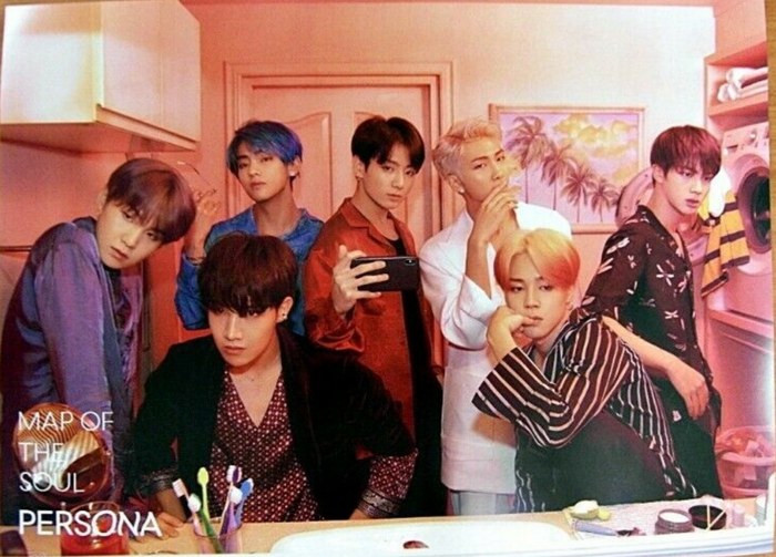BTS MAP OF PERSONA OFFICIAL POSTER - PHOTO CONCEPT 2