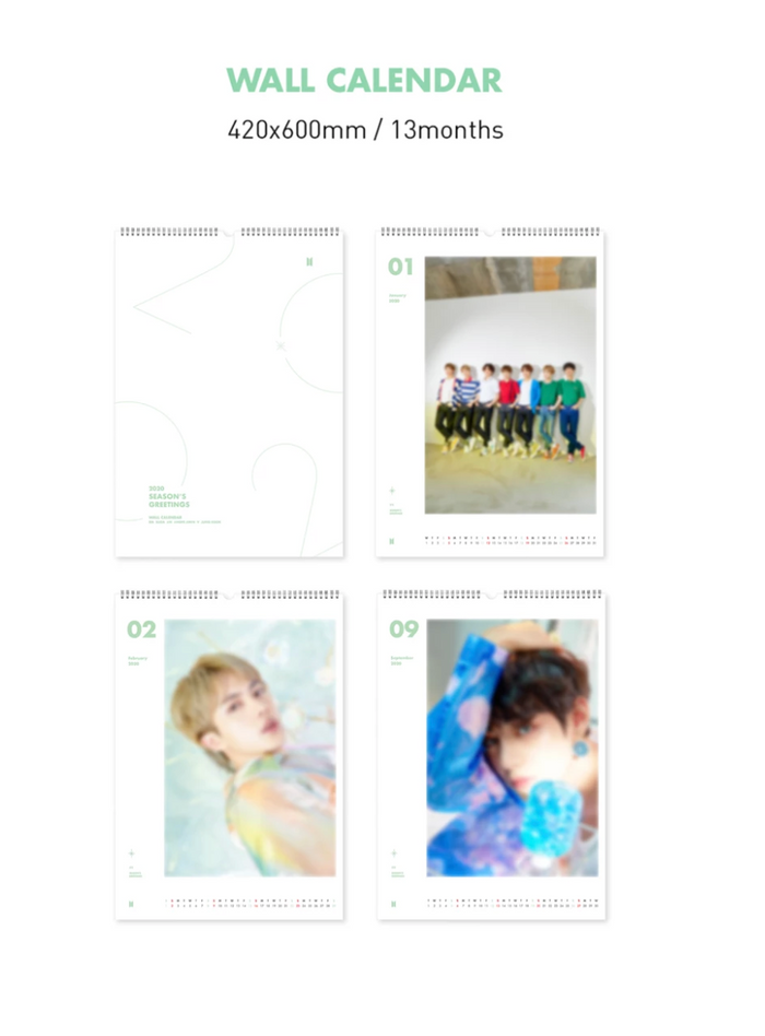 [Limited Stock] BTS 2020 WALL CALENDAR