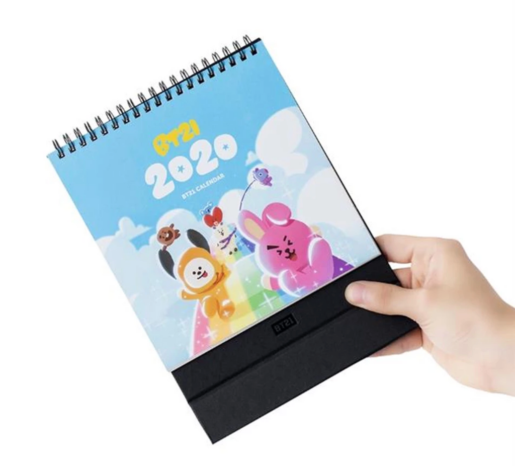 BT21 Line Friends Official Merchandise - 2020 Desk Calendar
