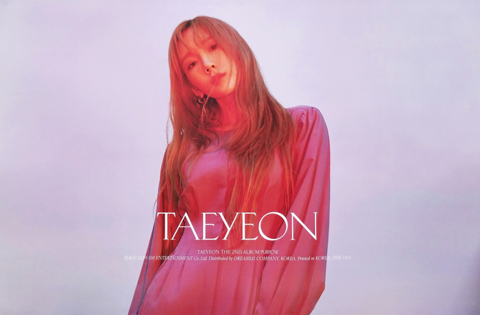 Taeyeon 2nd Album Purpose Official Poster - Photo Concept 1