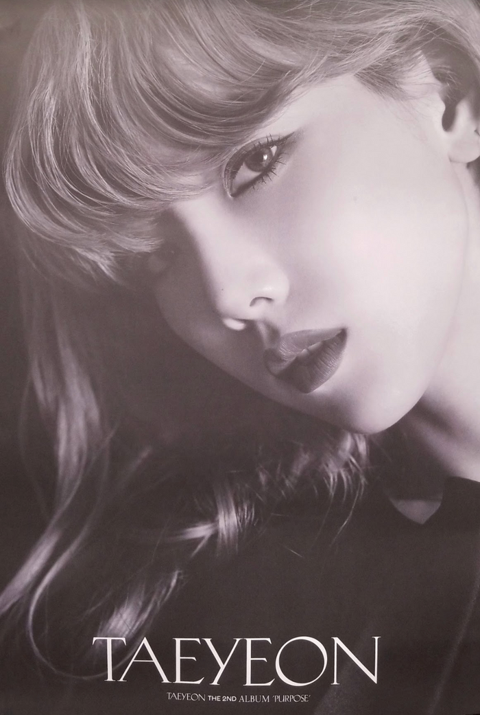 Taeyeon 2nd Deluxe Album Purpose Official Poster - Photo Concept 1
