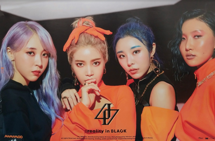 Mamamoo 2nd Album Reality in Black Official Poster - Photo Concept 3