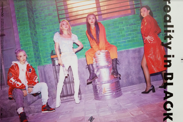 Mamamoo 2nd Album Reality in Black Official Poster - Photo Concept 5