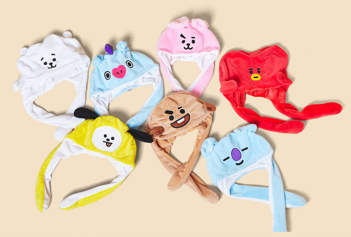 [Pre-Order] BT21 Line Friends Collaboration Official Merchandise - Action Doll Hat