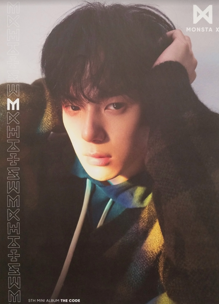 MonstaX 5th Mini Album The Code Official Poster - Photo Concept Minhyuk