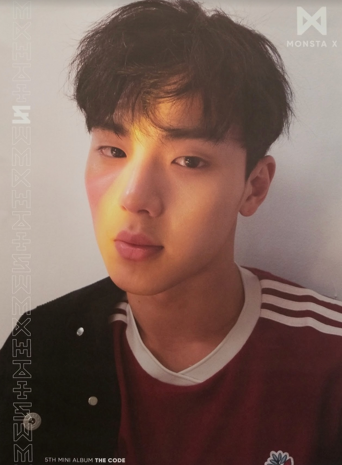 MonstaX 5th Mini Album The Code Official Poster - Photo Concept Shownu