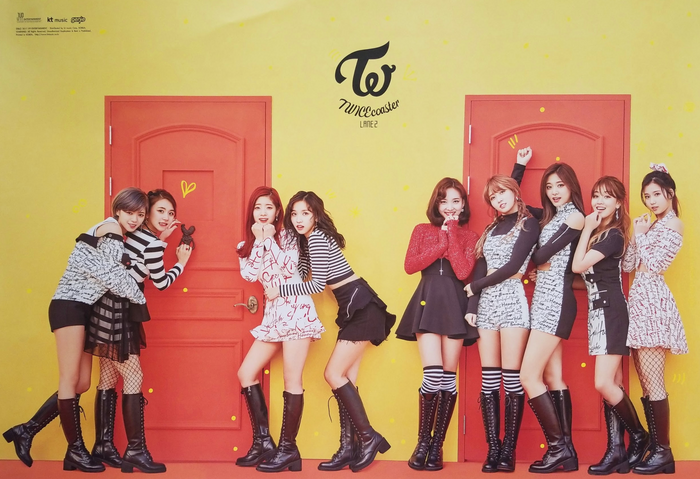 TWICE 1st Special Album Knock Knock Official Poster - Photo Concept 1