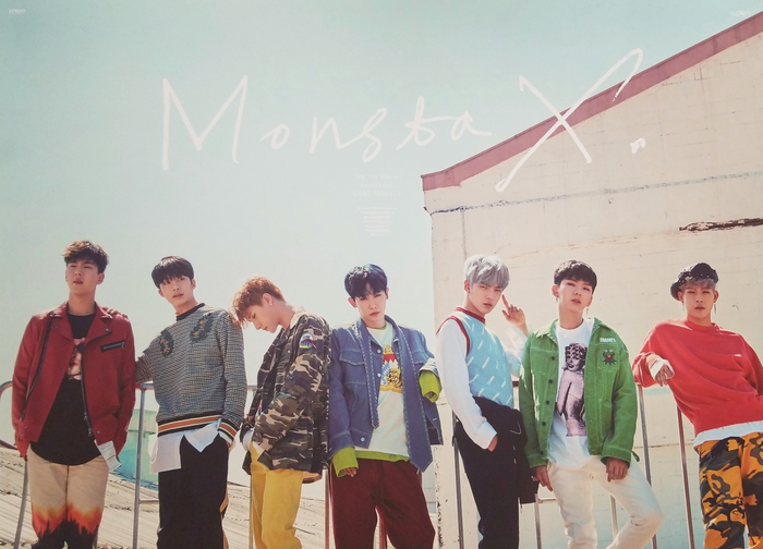 Monsta X 1st Album Repackaged Shine Forever Official Poster - Photo Concept 2