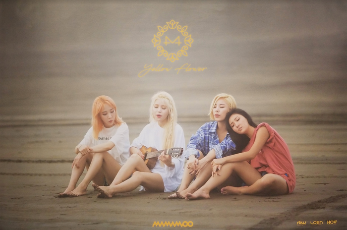 Mamamoo 6th Mini Album Yellow Flower Official Poster - Photo Concept 1