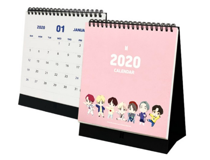 [Limited Stock Sale] BTS Character Official Merchandise - 2020 Calendar