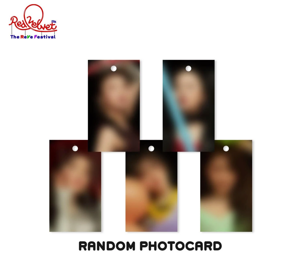 Red Velvet Day 1 Heart Charm Keychain with Photo Tag
