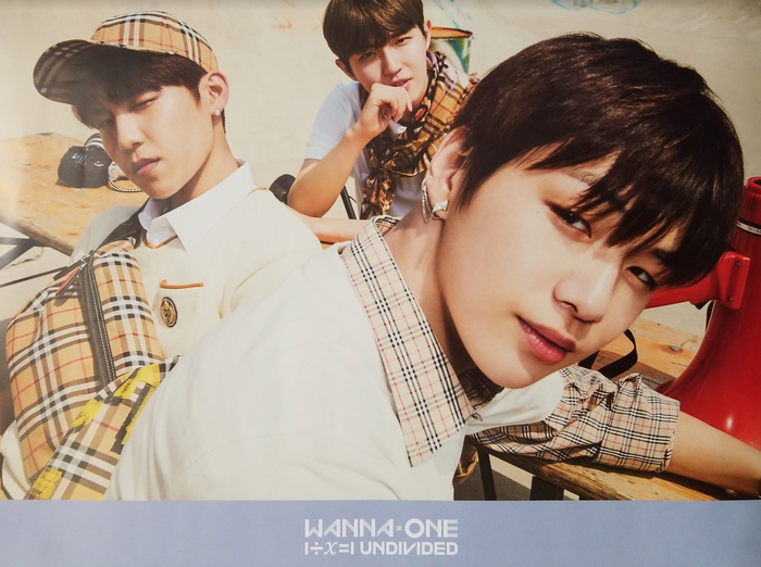 WANNA ONE SPECIAL ALBUM - 1÷Χ=1 (UNDIVIDED) Official Poster - Photo Concept Triple Position