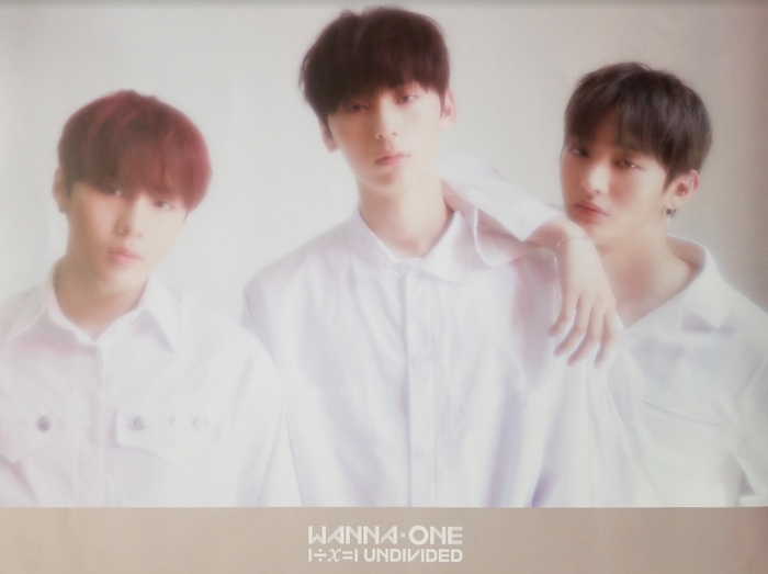 WANNA ONE SPECIAL ALBUM - 1÷Χ=1 (UNDIVIDED) Official Poster - Photo Concept Lean on Me