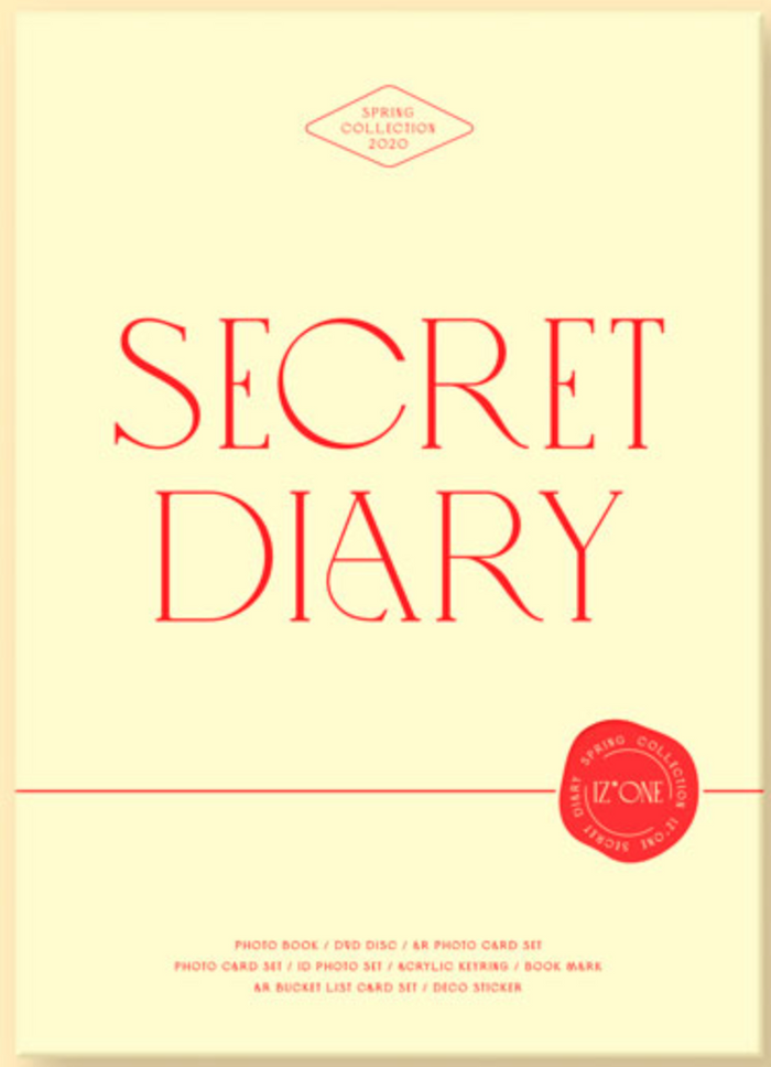 IZ*ONE SECRET DIARY (PHOTOBOOK PACKAGE)