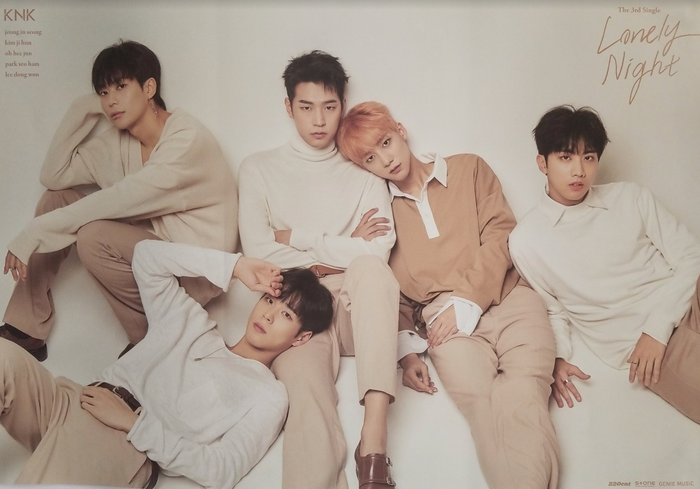 KNK 3rd Single Album Lonely Night Official Poster - Photo Concept 1