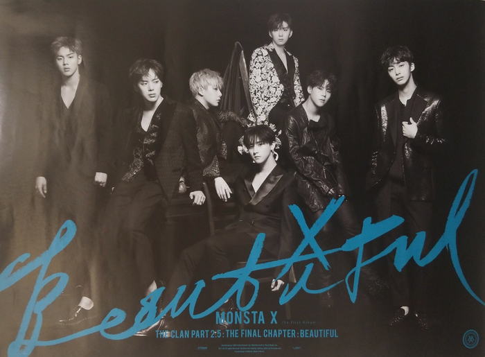 Monsta X 1st Album Beautiful Official Poster - Photo Concept 2