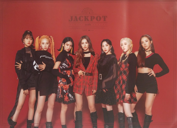 Elris 4th Mini Album Jackpot Official Poster - Photo Concept Red