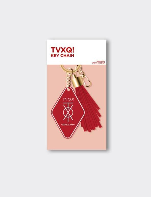 TVXQ! OFFICIAL MERCHANDISE - LEATHER TASSEL KEYCHAIN