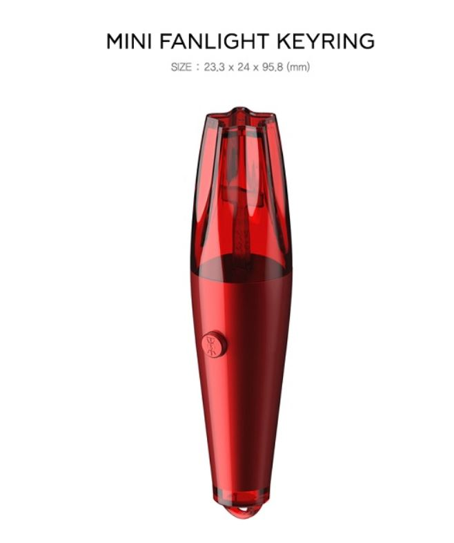 [PRE-ORDER] TVXQ - Official Mini Light Stick Keyring