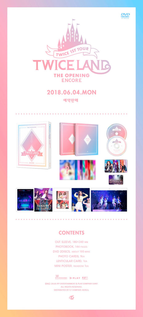트와이스 TWICE 1ST TOUR [ENCORE] TWICELAND -THE OPENING DVD