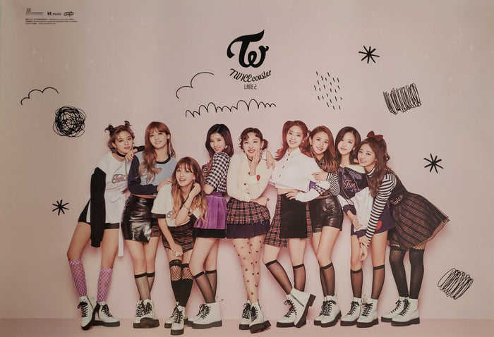 TWICE 1st Special Album Knock Knock Official Poster - Photo Concept 2