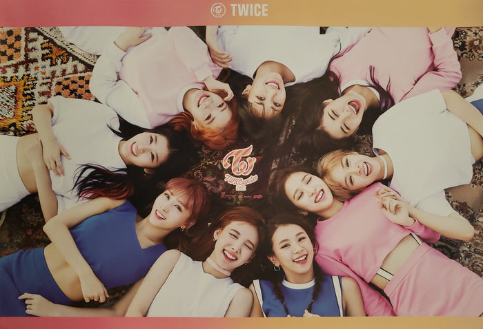 Twice 3rd Mini Album Twicecoaster Official Poster - Photo Concept Magenta