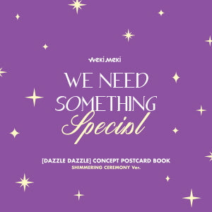 Weki Meki Digital Single [DAZZLE DAZZLE] Official Merchandise - Concept Postcard Book