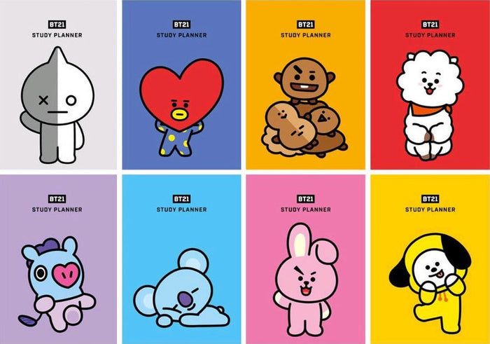 BT21 OFFICIAL GOODS - OFFICIAL STUDY PLANNER