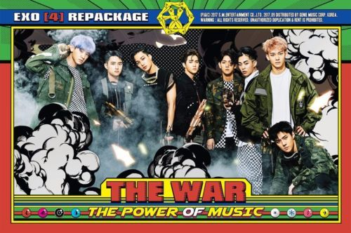 엑소 EXO The War: The Power of Music 4th Repackage Album Unfolded Poster Only