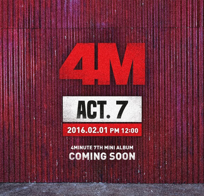 포미닛 4minute - Mini Album Vol.7 ACT. 7