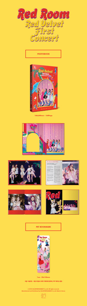 [Pre-Order]  레드벨벳 RED VELVET FIRST CONCERT PHOTOBOOK(160P) - RED ROOM
