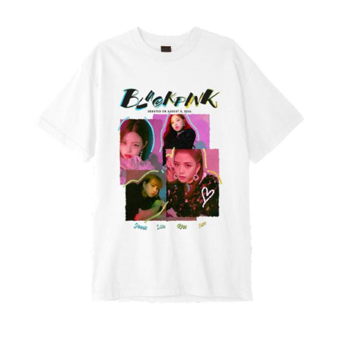 [Pre-Order]  BLACKPINK  YG Official Goods SQUAREUP BLACKPINK T-SHIRTS TYPE 2 (WHITE)