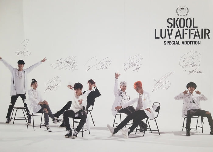 BTS Skool Luv Affair Special Addition Official Poster - Photo Concept 1