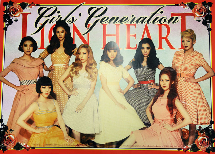 소녀시대 GIRLS' GENERATION SNSD LION HEART POSTER