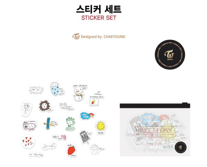 TWICE (트와이스) - Sticker Set  ONCE BEGINS OFFICIAL MD