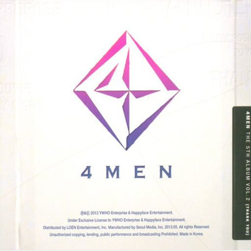포맨 4Men The 5th Album Vol. 2 - Thank You