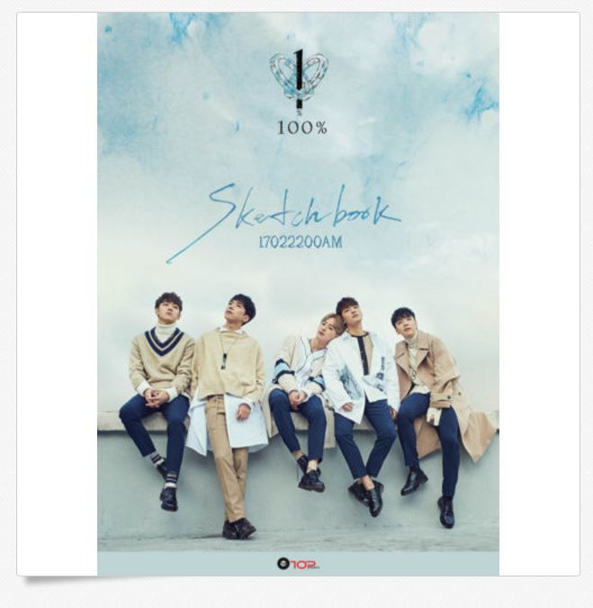 100 PERCENT 100 % - SKETCHBOOK (4th Mini Album) CD