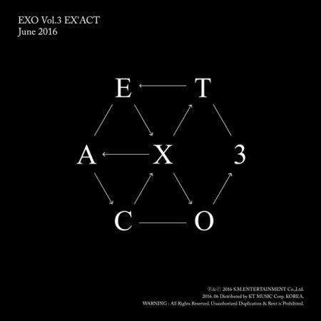 [Pre-Order] [Re-release] EXO 3rd Album - EX'ACT (Chinese Ver.) (Random Version)