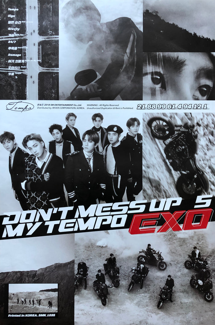 EXO 5TH ALBUM [DON'T MESS UP MY TEMPO] OFFICIAL POSTER - MODERATO VERSION