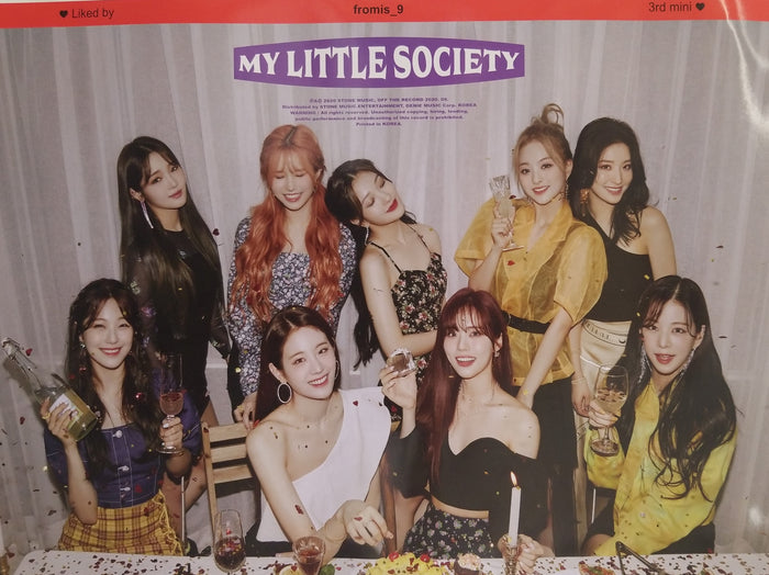 FROMIS_9 3rd Mini Album My Little Society Official Poster - Photo Concept My Society