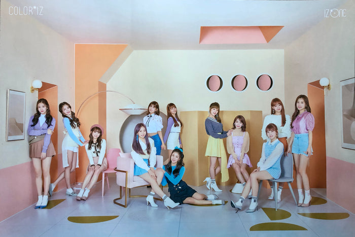 IZ*ONE 1ST MINI ALBUM [COLOR*IZ] OFFICIAL POSTER - COLOR VERSION