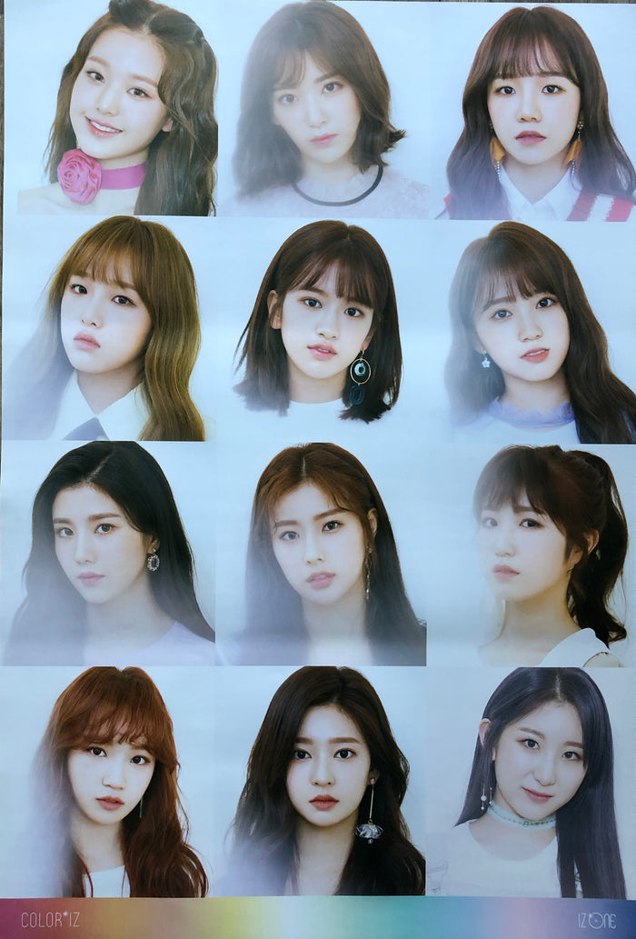 IZ*ONE 1ST MINI ALBUM [COLOR*IZ] OFFICIAL POSTER - ROSE VERSION