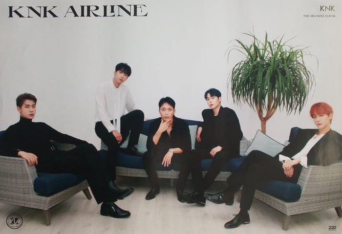 KNK 3rd Mini Album KNK Airline Official Poster - Photo Concept Off