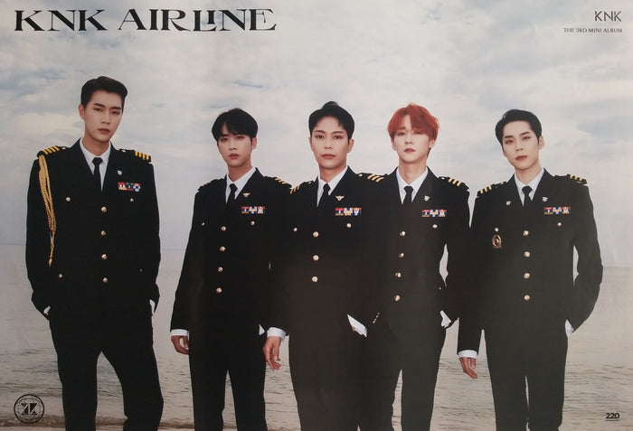 KNK 3rd Mini Album KNK Airline Official Poster - Photo Concept On