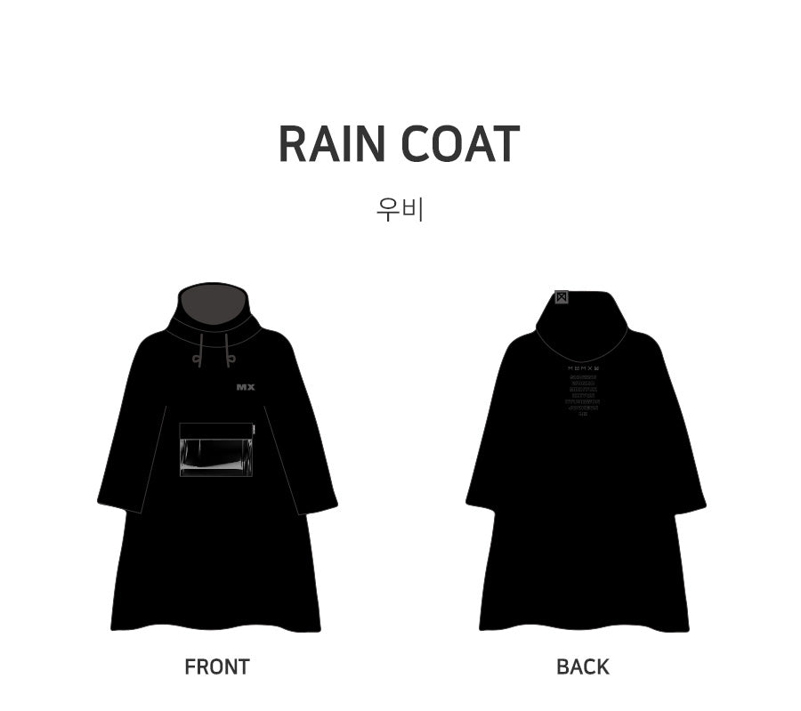 [Pre-Order] MONSTA X 2018 WORLD TOUR [THE CONNECT] OFFICIAL GOODS - RAIN COAT