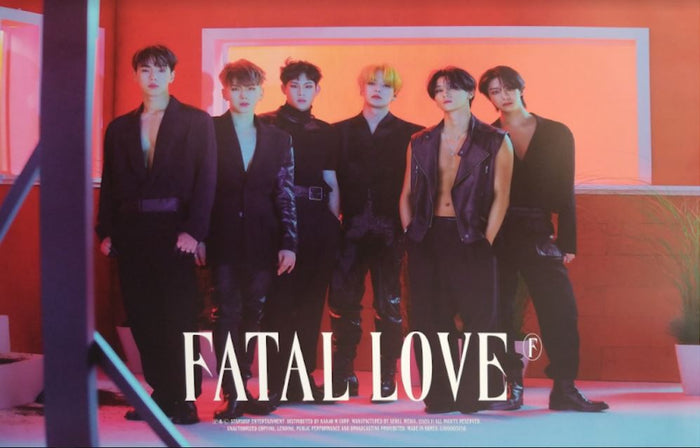 MONSTA X 3rd Album FATAL LOVE Official Poster - Photo Concept 1