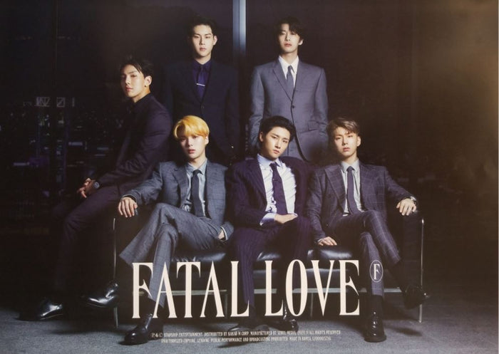MONSTA X 3rd Album FATAL LOVE Official Poster - Photo Concept 3