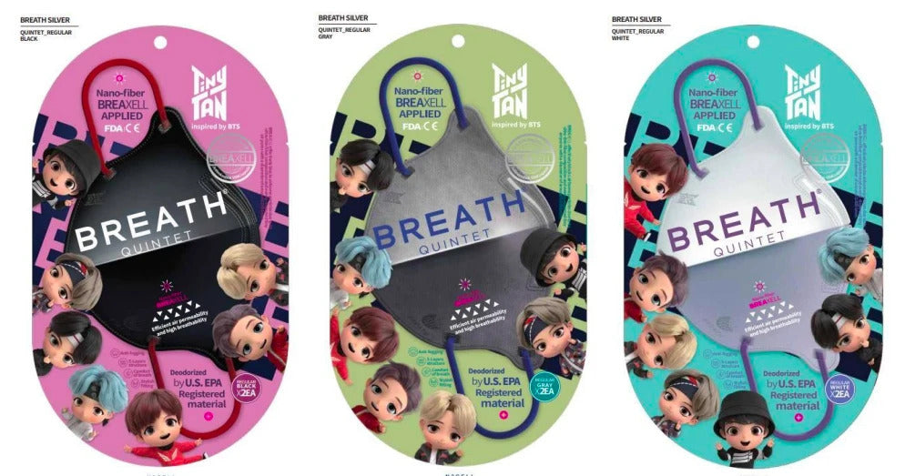 BTS TINYTAN BREATH QUINTET MASK